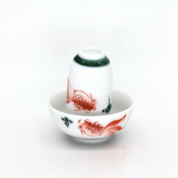 """Чайная пара фарфор """"Красная рыбка"""""""