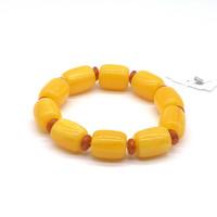 Чётки Янтарь Жёлтый цзун 10 бусин 18*15 мм