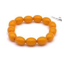 Чётки Янтарь Оранжевый цзун 13 бусин 16*12 мм