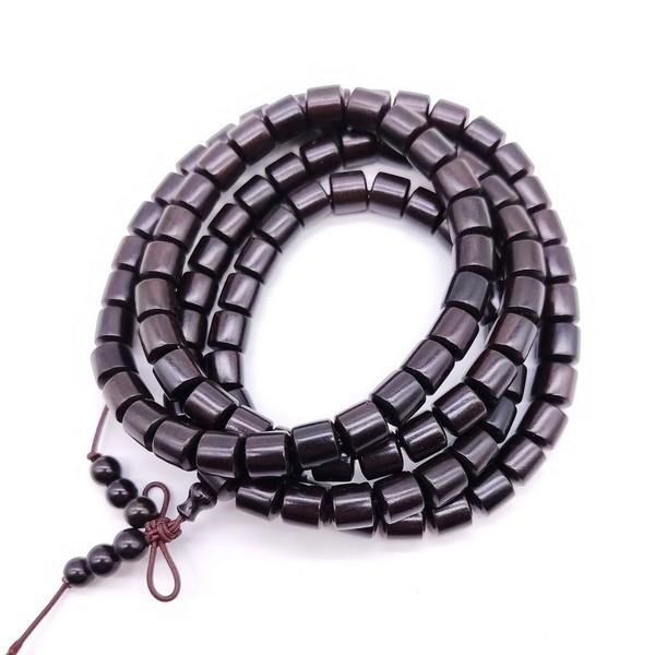 Чётки Сандал Чёрный 108 бусин 8мм
