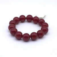 Чётки Янтарь Красный 15 бусин 14 мм