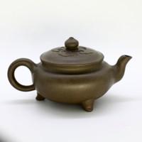 """Чайник глина зеленая """"Треножник"""" 207 мл"""