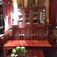Комплект мебели. 2 дивана, 2 трона, 1 стол. Красное дерево