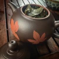 Чайник киноварь и исинская глина коллекционный 199мл