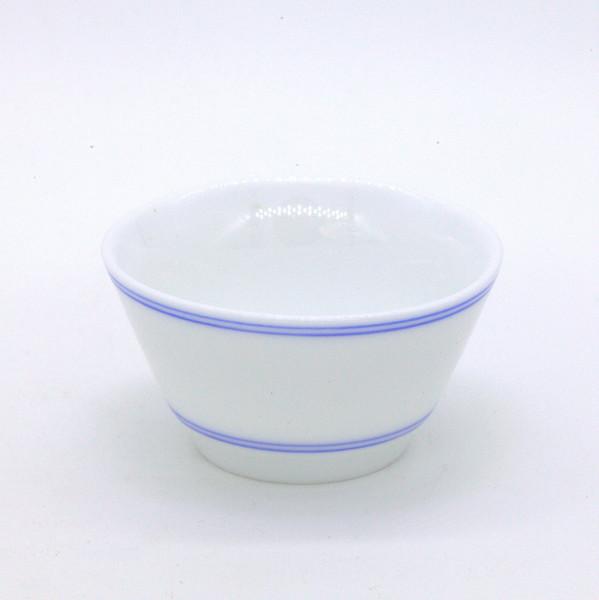 """Чашка фарфор """"Трапеция с кобальтовым ободом"""" 55 мл"""