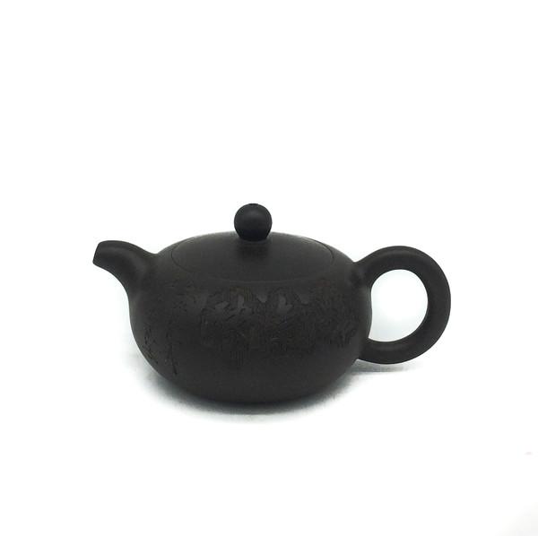 """Чайник глина коричневая """"Резьба"""" 100 мл"""