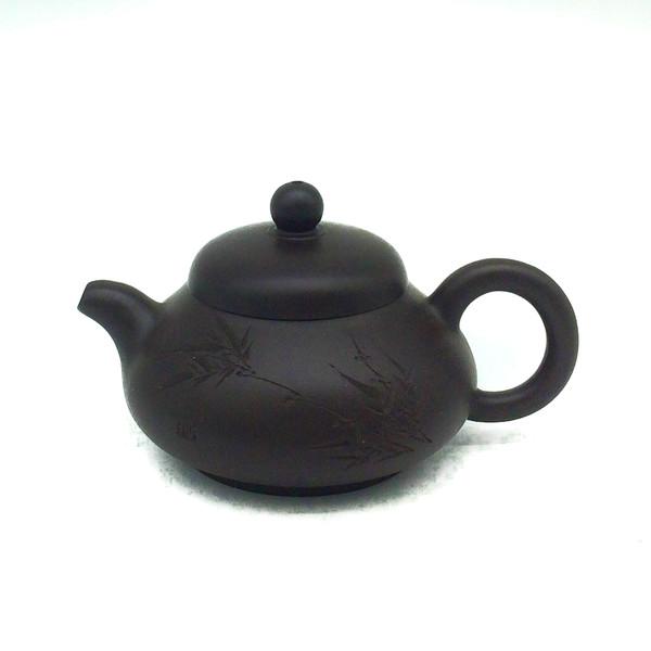 "Чайник глина тёмная ""Бамбук"" 100 мл"