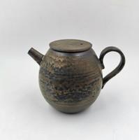 """Чайник глина """"Плоская крышка"""", дровяной обжиг"""
