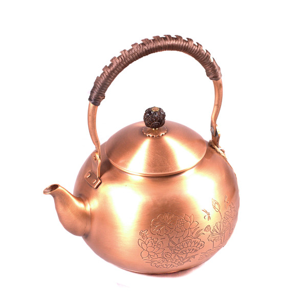 """Чайник для воды медь """"Лотосовый пруд"""""""