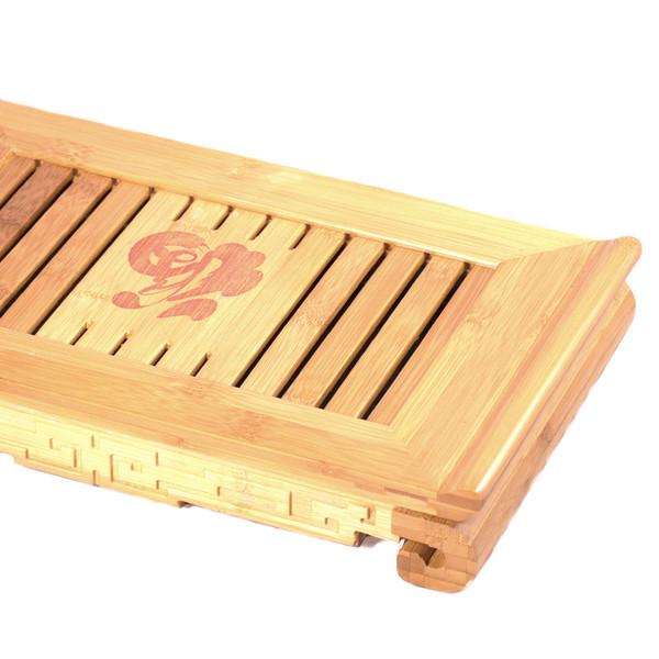 """Чайный столик бамбук """"Счастье"""" 38,5х22,5х5,5"""
