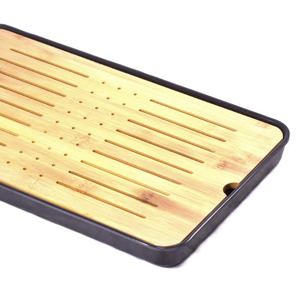 """Чайный столик бамбук """"Плита"""" большой 26,5х43,5см"""