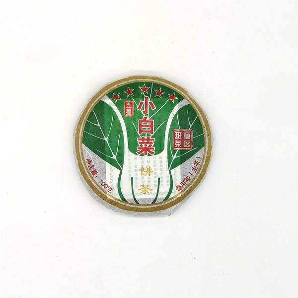 Чай Пуэр Шэн Бу Лан Шань Сяо Бай Цай Бин '16 №150