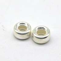 Кольцо бусина серебро 6мм
