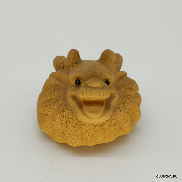 "Фигурка глина желтая ""Цилинь"""