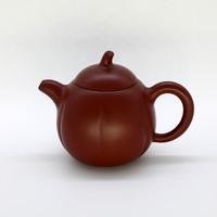 """Чайник глина рыжая """"Тыква"""" 175мл"""
