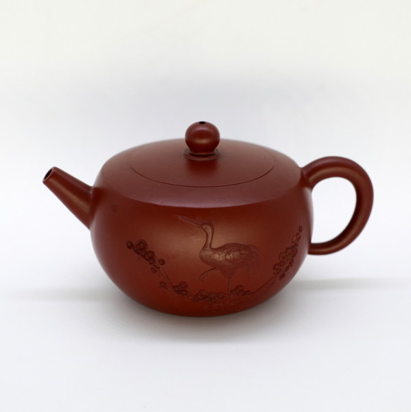 "Чайник глина красная ""Журавль"" 175мл"