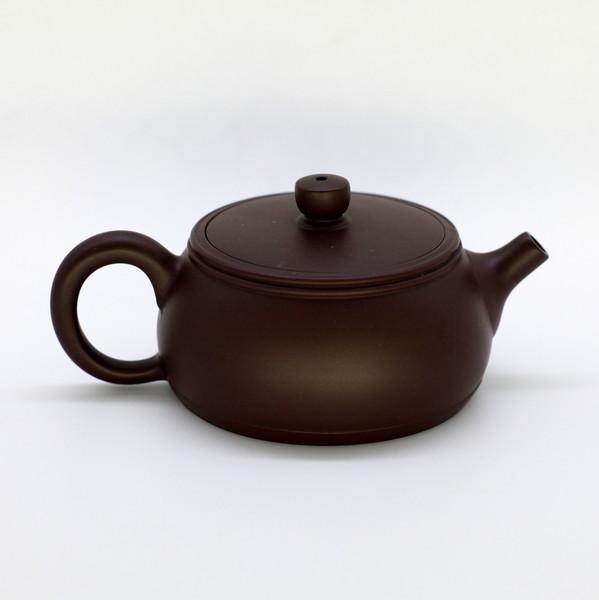 Чайник глина коричневая с широким горлом 110мл