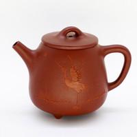 "Чайник глина рыжая ""Журавль"" 155мл"