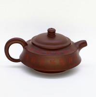 """Чайник глина коричневая """"Пагода Иероглифы"""" 145мл"""
