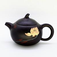 "Чайник глина черная ""Лотос"" 215мл"