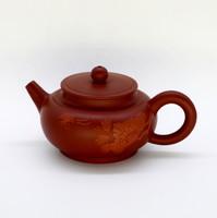 """Чайник глина рыжая """"Цветок и бабочка"""" 155мл"""