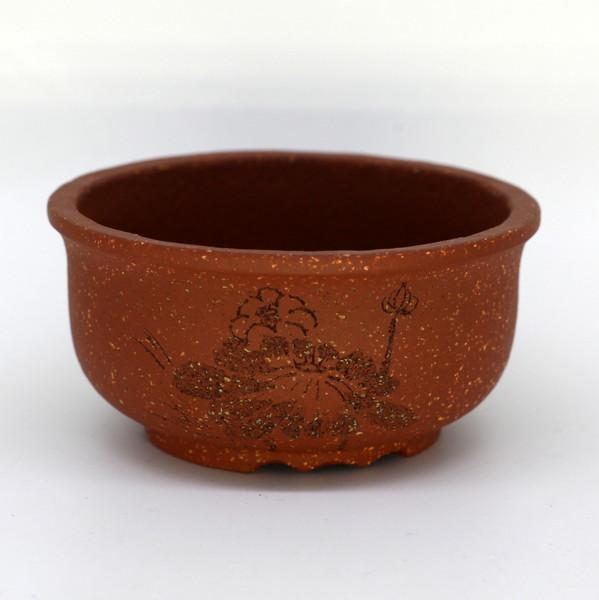 """Горшок для цветов глина рыжая """"Лотос"""""""