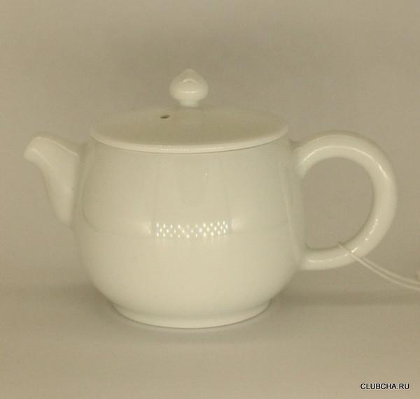 """Чайник фарфор """"Белый"""" 190 мл"""