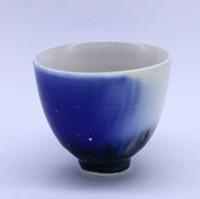 """Чашка фарфор из Цзин Дэ Чжэнь """"Кобальтовая глазурь"""" 80 мл"""