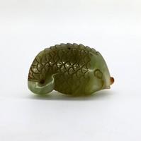 Нефрит резьба Рыба Карп Процветания