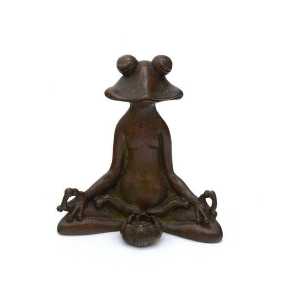 """Бронза """"Лягушка в медитации"""""""
