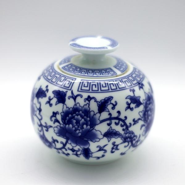 """Банка для чая """"Синие цветы"""""""