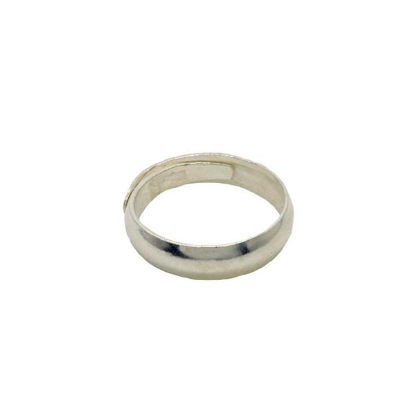 Кольцо серебро проба 999 диаметр 19мм