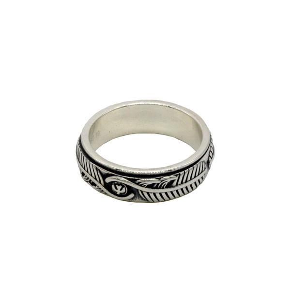 """Кольцо серебро """"Перо"""" диаметр 19мм"""