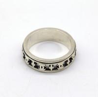 Кольцо серебро 22-18мм
