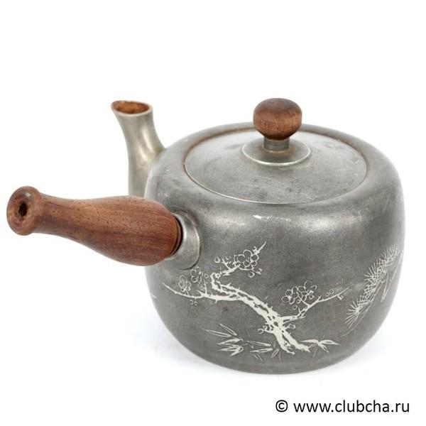 Чайник металл, японский антиквариат