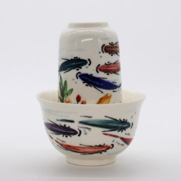 Чайная пара. Фарфор. Антиквариат из Цзин Дэ Чжень