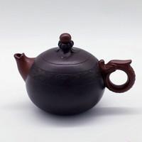 """Чайник глина коричневая """"Дракон с жемчужиной"""" 128 мл"""