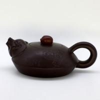 """Чайник глина коричневая """"Свинки"""" 105 мл"""