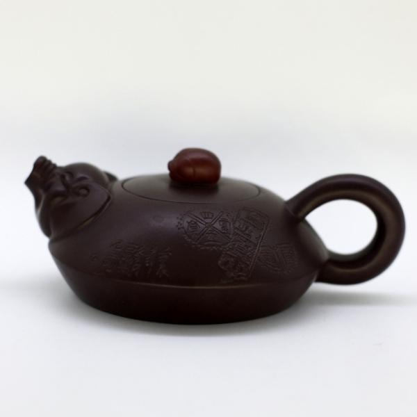 """Чайник глина коричневая """"Свинки"""" 100 мл"""