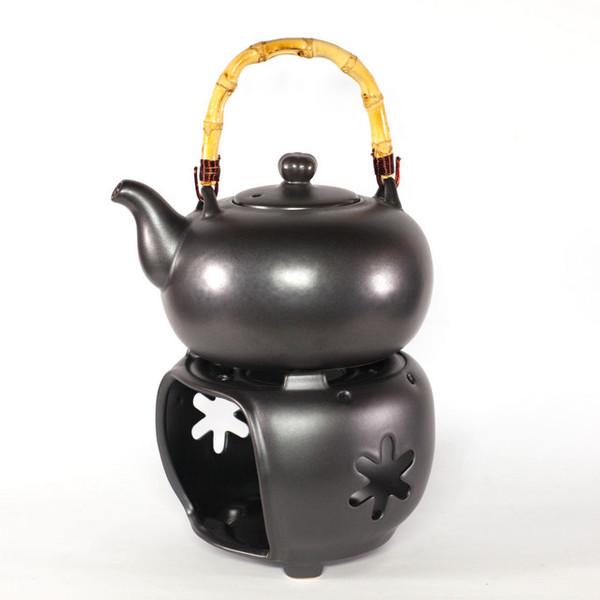 Чайник для воды глиняный c подставкой