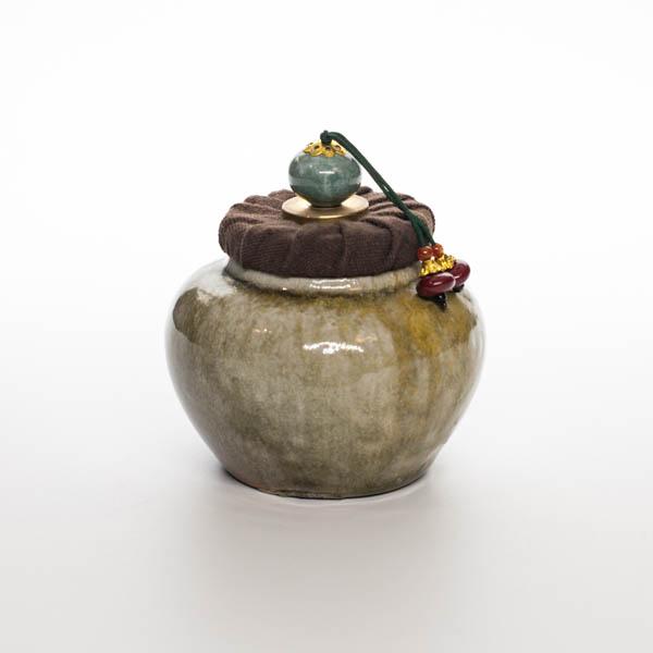 Чайница 1 (Глазурь Тьен Му)