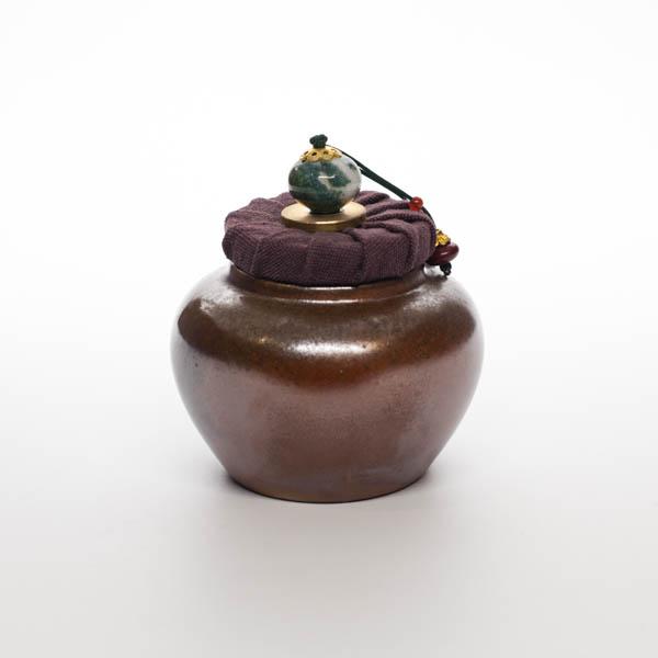 Чайница дровяной обжиг 04-18-03 (глазурь Тьен Му)