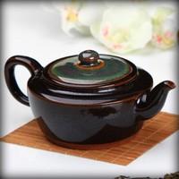 Чайник с глазурью Тенмоку