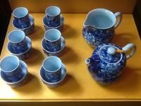 "Набор ""Синие цветы"" чайник + чахай + 6 чайных пар"