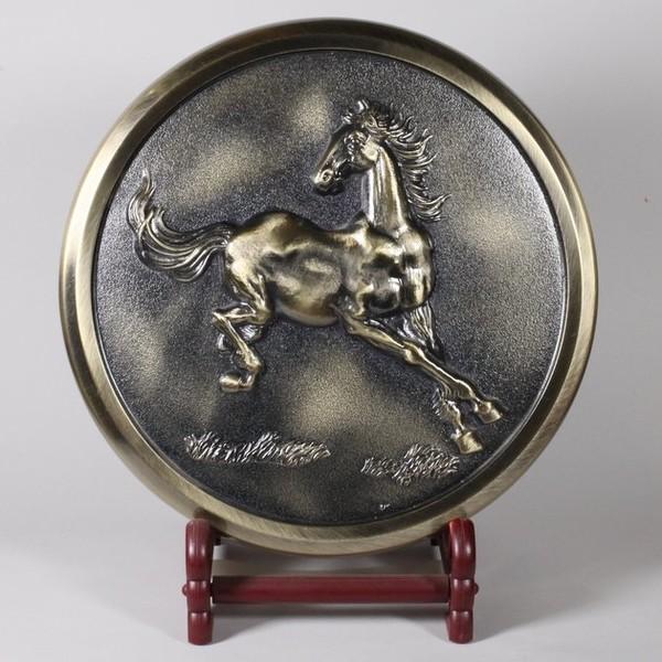 """Чайница для лепешки пуэра (металл), """"Скачущая Лошадь"""""""