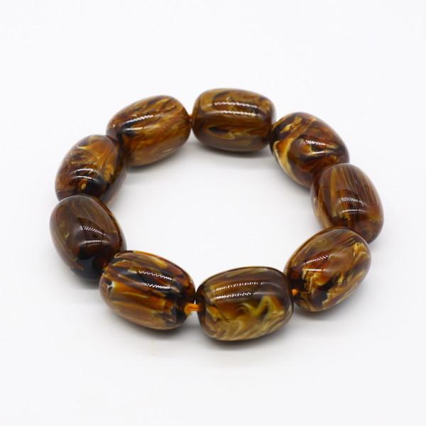 Четки-браслет янтарь 9 бусин