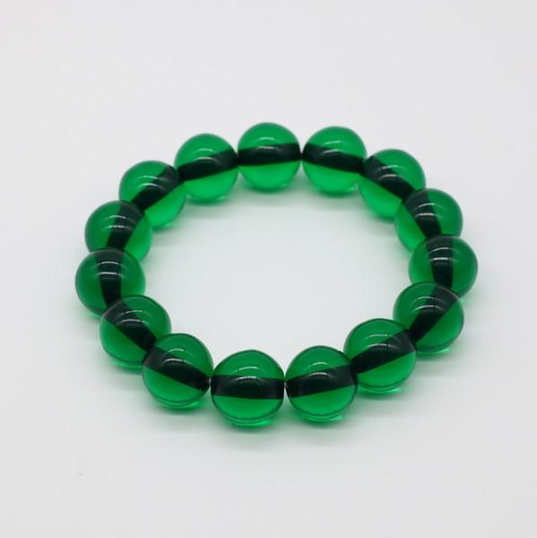 Четки-браслет , Янтарь, Зелёный прозрачный
