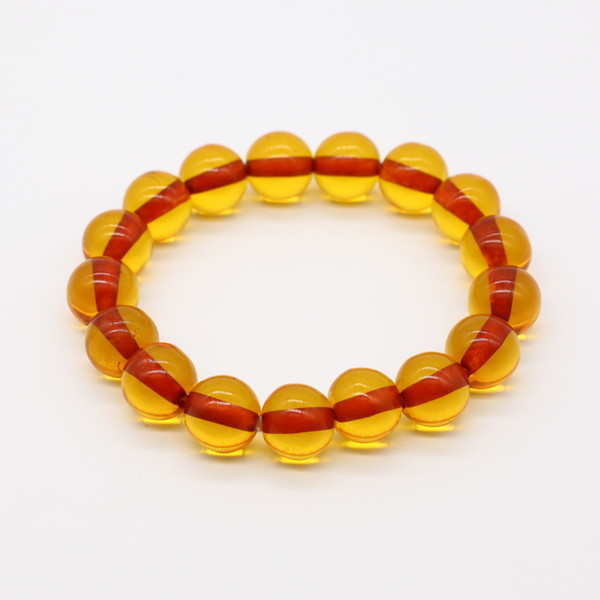 Четки-браслет , Янтарь, Оранжевый прозрачный