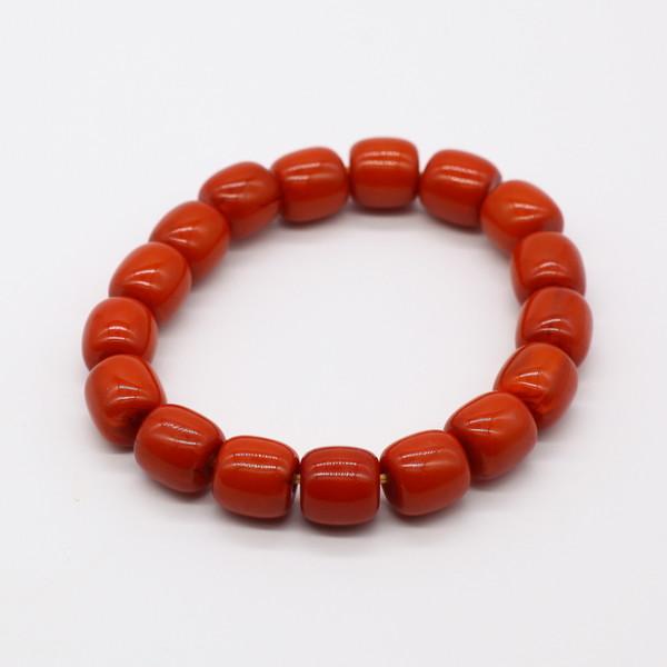 Четки-браслет , Янтарь, Бочонок оранжевый