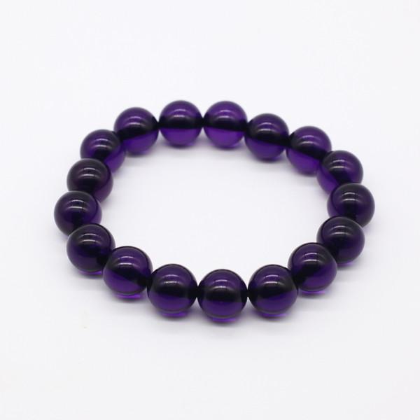 Четки-браслет , Янтарь, Фиолетовые